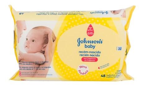 Lenço Umedecido Johnson's Baby Recém-Nascido (com 48 unidades) em oferta
