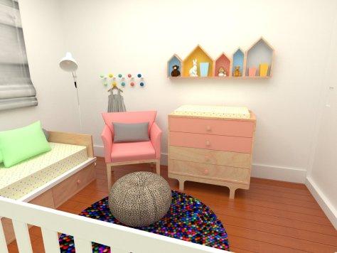 Projeto de quarto de bebê da Elefante Design
