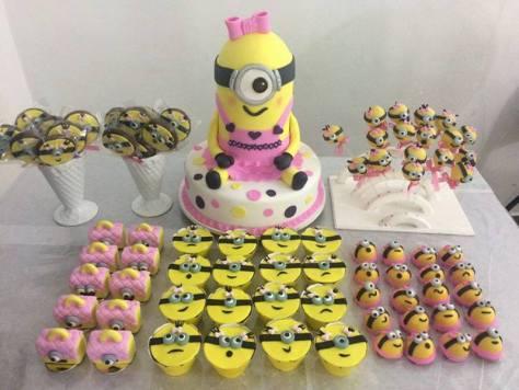 Festa Minions para meninas
