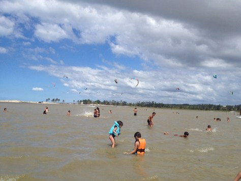 Lagoa e Praia da Barra do Cauípena cidade de Caucaia