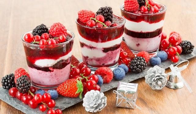 Taça de frutas vermelhas