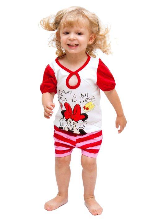 pijama Disney Infantil com estampa da Minnie