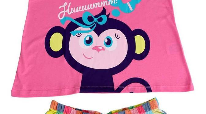 Short doll infantil com macaquinha da loja virtual Pijamas for yourShort doll com macaquinha da loja virtual Pijamas for your