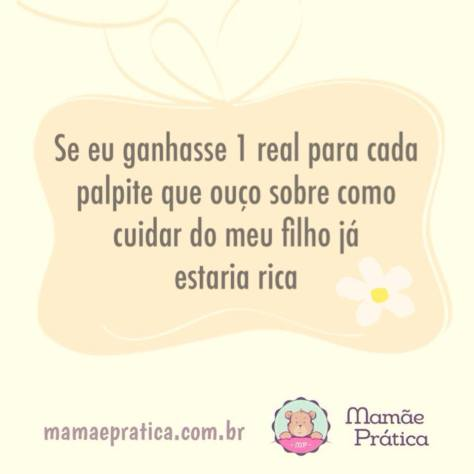 Frase sobre maternidade do blog Mamãe Prática