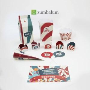 Kit de decoração de festa no tema Circo da loja virtual Zumbalum