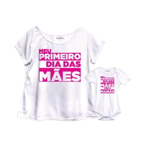 Camiseta tal mãe tal filho para presente de Dia das Mães
