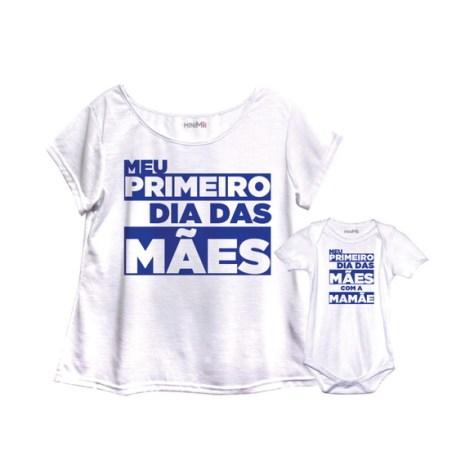 Camiseta tal mãe tal filha para presente de Dia das Mães