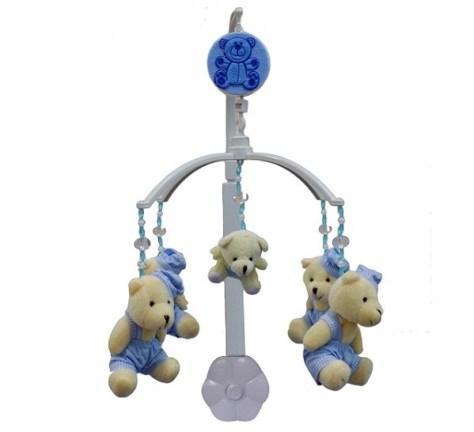 Móbile Musical Ursinho Azul Claro