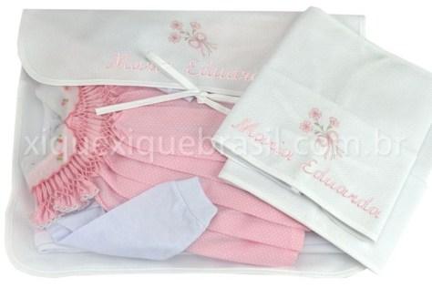 Kits sacos de maternidade para enxoval de bebê floral