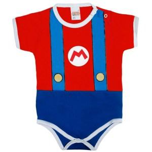 Enxoval de bebê: body de bebê Mario Bros