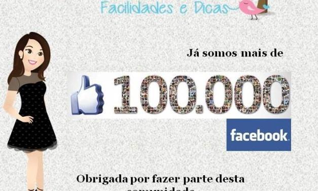 100.000 Seguidores No Facebook
