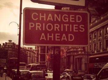Mudança de Prioridades