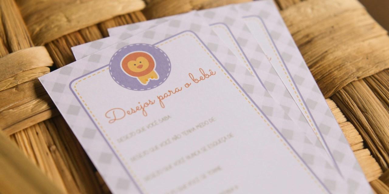 Cartão de desejos para o Bebê – Freebie
