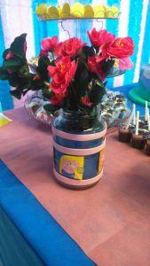 Vaso - reciclando pote de vidro de azeitona