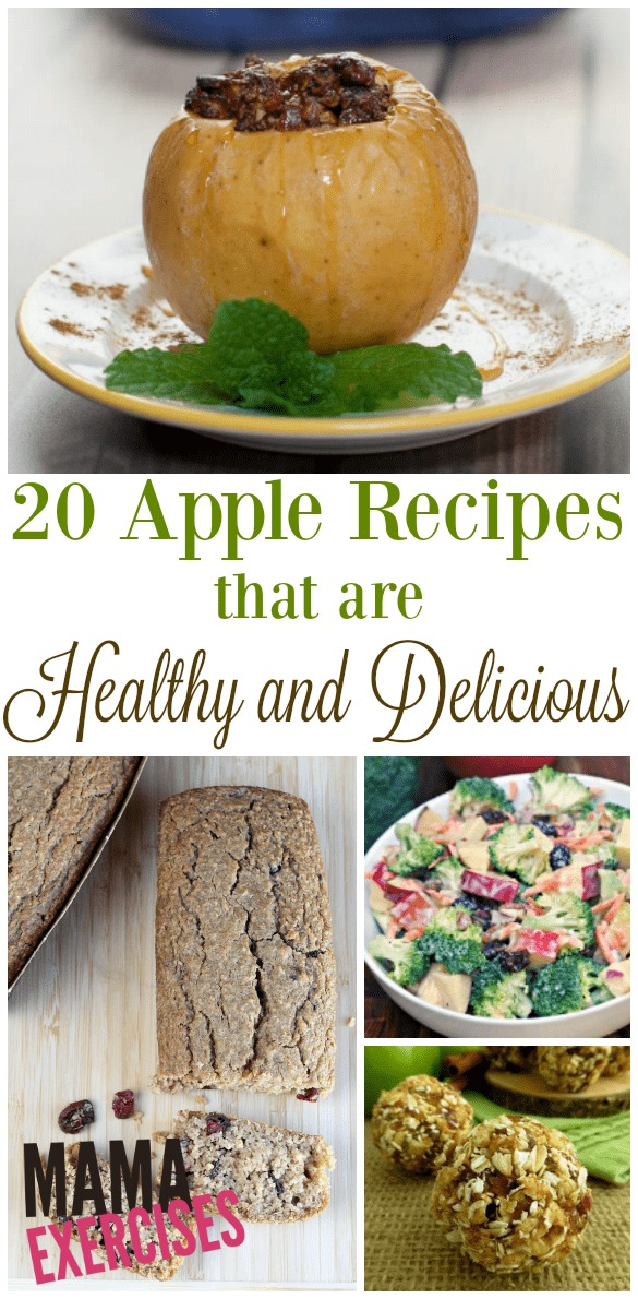 20 Healthy Apple Recipes - These are scrumptious!! - MamaExercises.com
