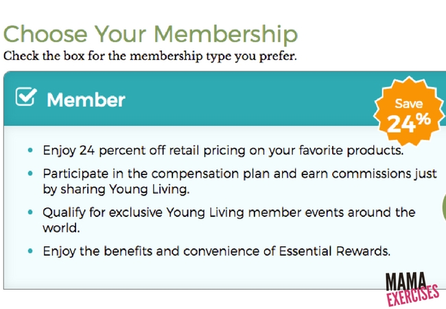 Choose Your Membership Screen When Ordering a Young Living Premium Starter Kit