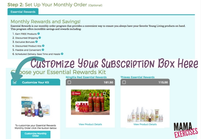 Step 3 When Ordering a Young Living Premium Starter Kit - Choose Your Subscription Box Items