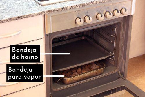 horno vapor pan sin gluten