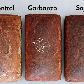 Harina de legumbres y pan sin gluten