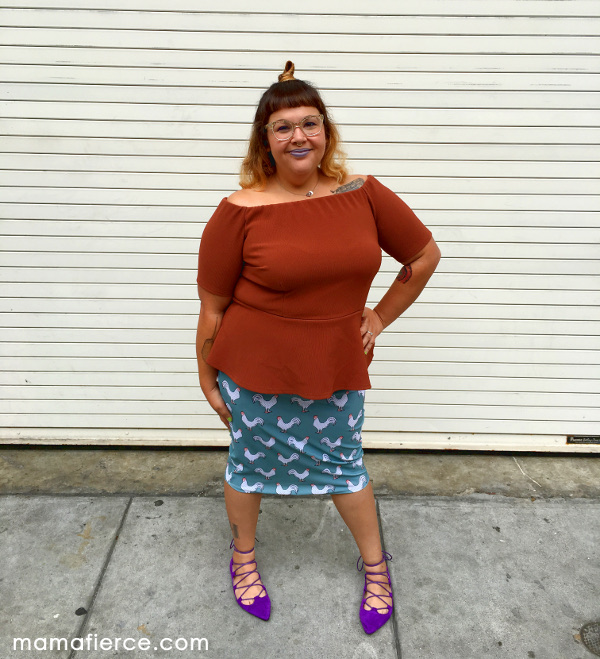 Rue107 rooster skirt