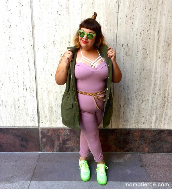 Boohoo pink plus size jumpsuit