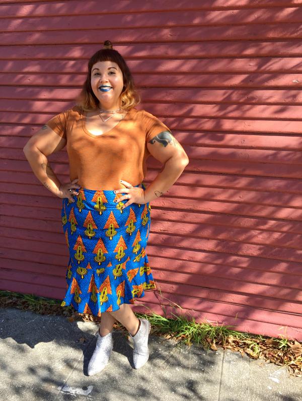 African print Ankara peplum skirt