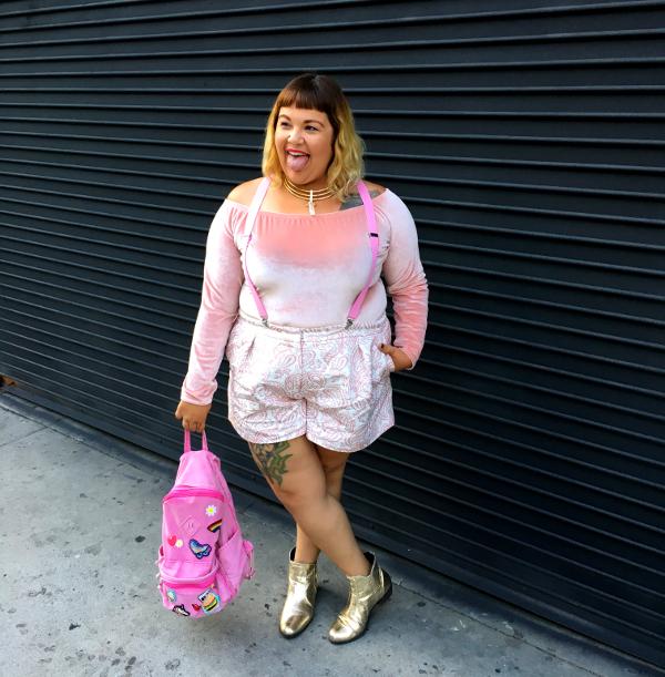Victoria Beckham plus size pink shorts