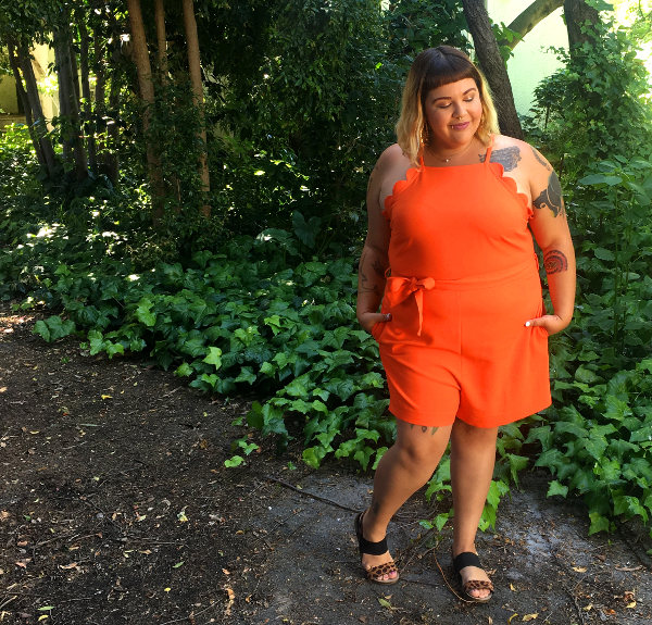 becks7smallVictoria Beckham plus size orange romper