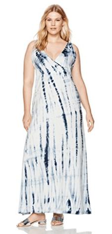 """Junarose Women's Plus Size Sleeveless Tie Dye Maxi Dress """
