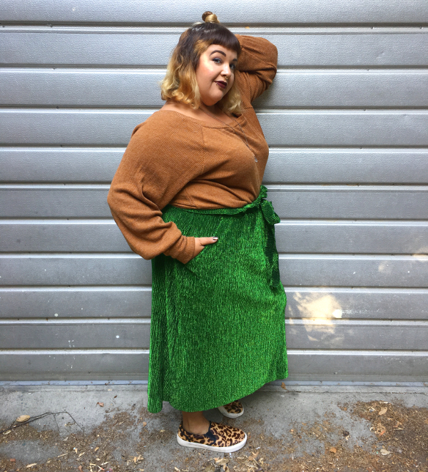 Premme plus size micropleated skirt