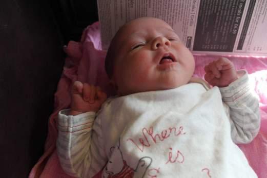 Lydia, 6 days old