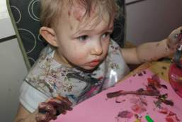 Very messy toddler!