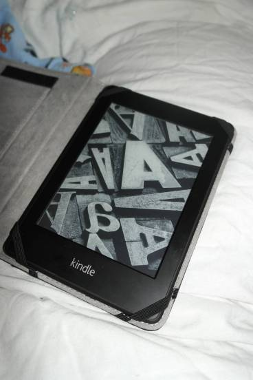 My Kindle in the case
