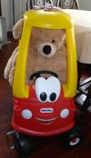 Teddy driving!