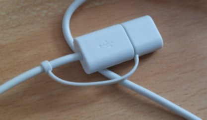 USB has a cap to prevent accidental water damage