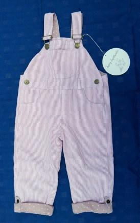 Pink Stripe Dungarees