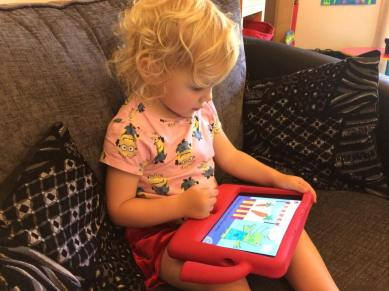 Lydia playing the Count Me In app
