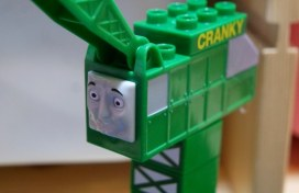 Cranky - Mega Bloks Thomas and Friends Zooming Along at Brendam Docks