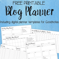 Free printable Blog Planner - inc. digital Goodnotes templates