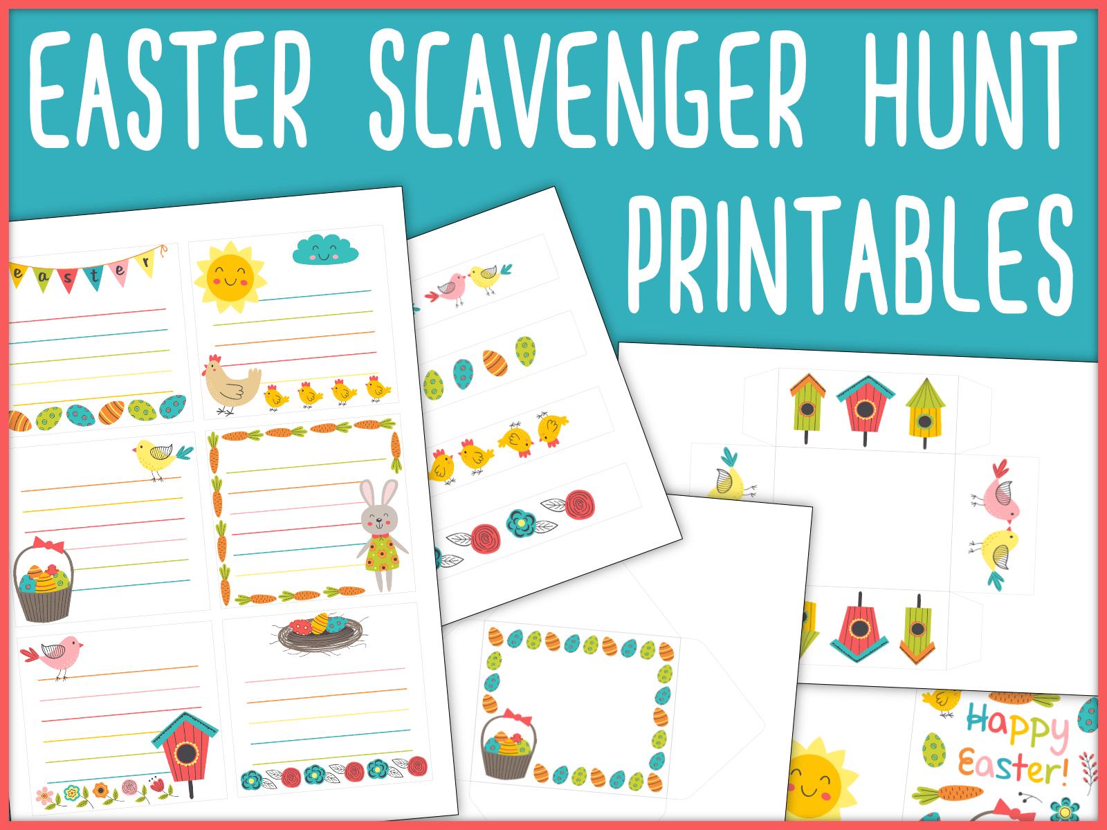 Easter Scavenger Hunt Free Printables