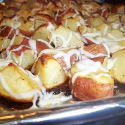 Cheesy Italian Ranch Red Potatoes