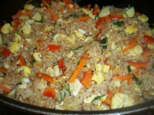 Stir Fried Rice with Veggies