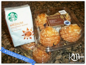 #DeliciousPairings Pre-Football Party Breakfast with Starbucks and The Bakery at Walmart