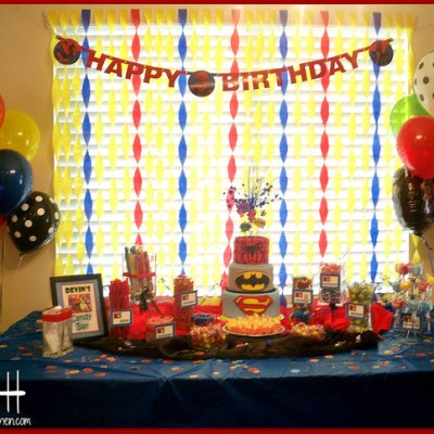 A Superhero Birthday Party!