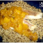 Mango Chutney over Broiled Tilapia