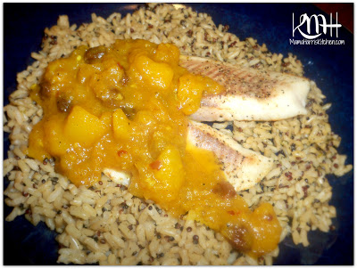 Mango Chutney over Broiled Tilapia
