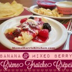 Banana & Mixed Berry Crème Fraîche Crêpes