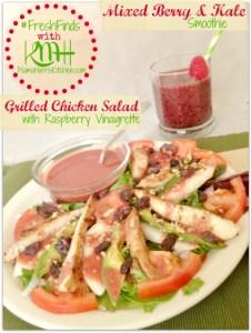 #shop Save Mart #FreshFinds Raspberry Vinaigrette grilled chicken salad mixed berry kale smoothie 3.1