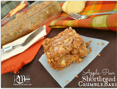 Apple-Pear Shortbread Crumble Bars