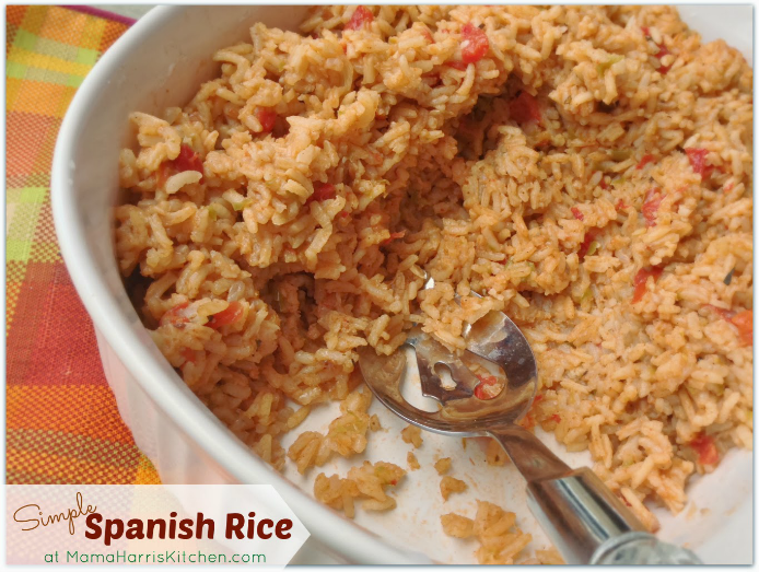 Simple Spanish Rice | Mama Harris' Kitchen